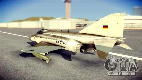 McDonnell Douglas F-4F Luftwaffe para GTA San Andreas esquerda vista