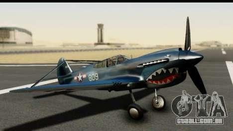 P-40E Kittyhawk US Navy para GTA San Andreas