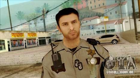 Depurty Alex Shepherd Skin para GTA San Andreas terceira tela