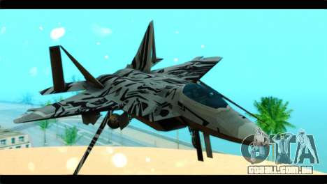 F-22 Raptor Starscream para GTA San Andreas vista traseira