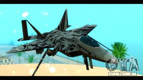 F-22 Raptor Starscream para GTA San Andreas vista traseira