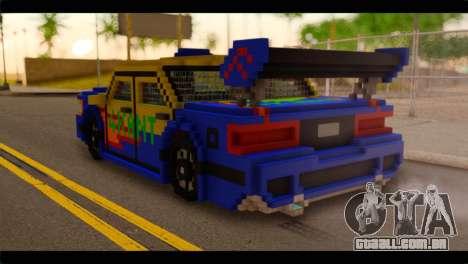 Minecraft Elegant para GTA San Andreas esquerda vista