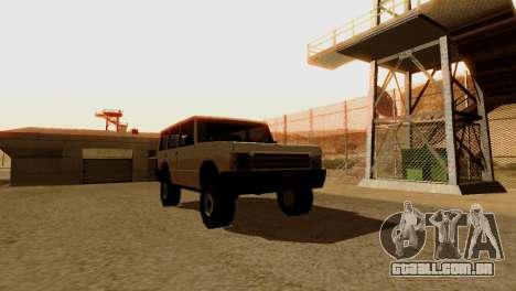 DLC 3.0 Militar atualização para GTA San Andreas décimo tela