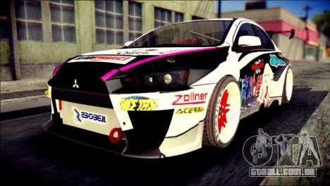 Mitsubishi Lancer Evolution X Juuzo Itasha para GTA San Andreas