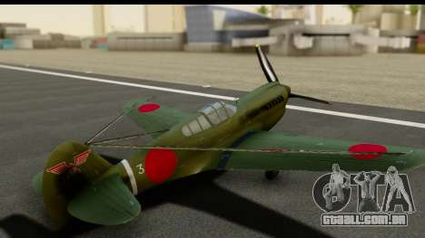 P-40E Kittyhawk IJAAF para GTA San Andreas vista interior