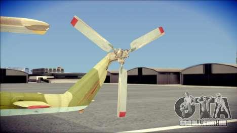 Mi-8 Hip para GTA San Andreas traseira esquerda vista