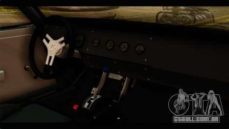 Dodge Charger RT 1970 para GTA San Andreas vista traseira