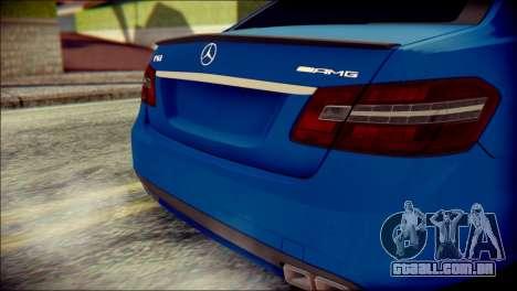 Mercedes-Benz AMG para GTA San Andreas vista traseira