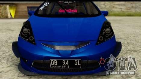 Honda Fit 2009 JDM Modification para GTA San Andreas traseira esquerda vista