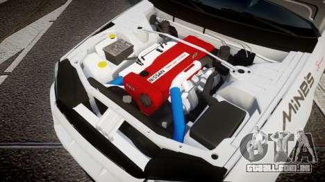 Nissan Skyline R34 GT-R Mines para GTA 4 vista interior