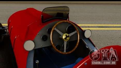 Ferrari 375 F1 para GTA San Andreas vista interior