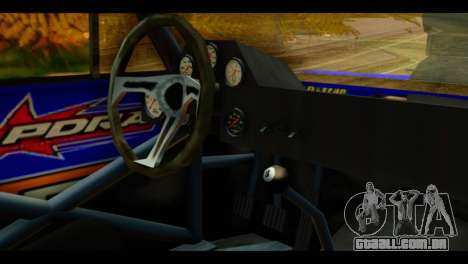 Chevy Nova NOS DRAG para GTA San Andreas vista direita