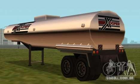 PS2 Petrol Trailer para GTA San Andreas vista direita