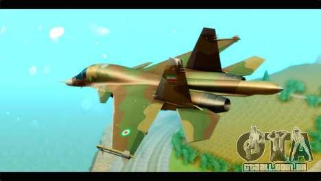 Sukhoi SU-34 IRIAF para GTA San Andreas esquerda vista