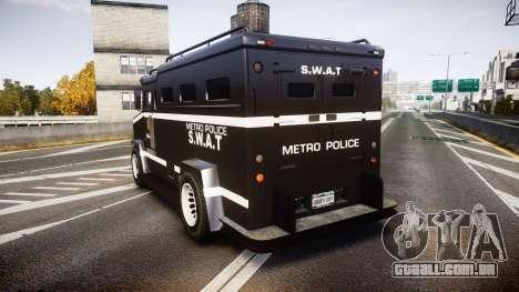 GTA V Brute Police Riot [ELS] skin 5 para GTA 4 traseira esquerda vista