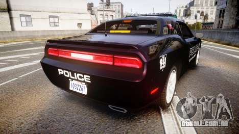 Dodge Challenger SRT8 Police [ELS] para GTA 4 traseira esquerda vista