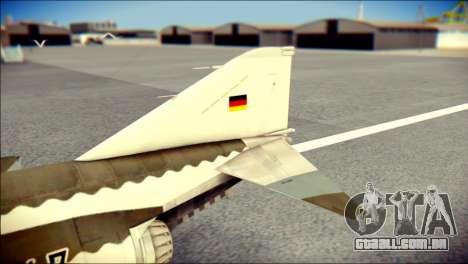 McDonnell Douglas F-4F Luftwaffe para GTA San Andreas traseira esquerda vista
