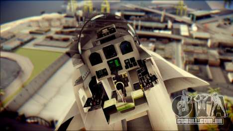 F-18D Swiss Air Force para GTA San Andreas vista traseira