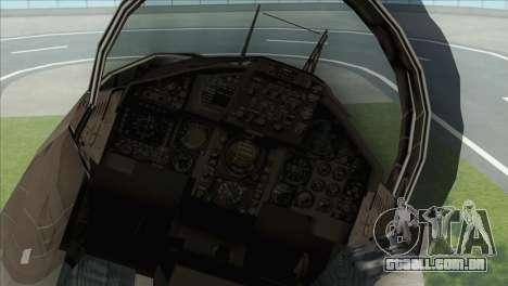 McDonnell Douglas F-15D Philippine Air Force para GTA San Andreas vista traseira