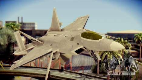 F-22 Gryphus, Falco and Antares para GTA San Andreas vista traseira