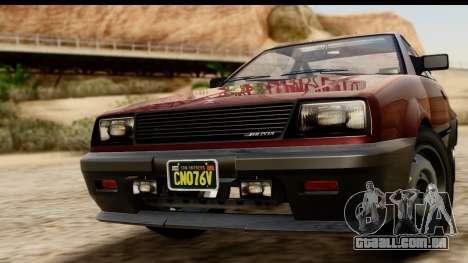 GTA 5 Dinka Blista Compact para GTA San Andreas traseira esquerda vista