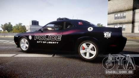 Dodge Challenger SRT8 Police [ELS] para GTA 4 esquerda vista