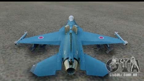 F-2A Viper Blue para GTA San Andreas esquerda vista