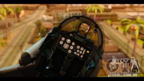 MIG-29 Fulcrum para GTA San Andreas vista traseira