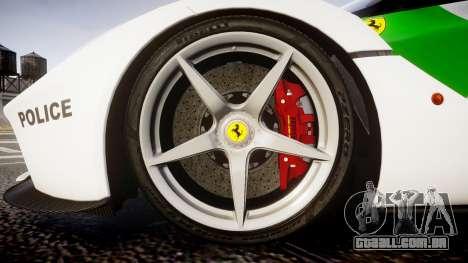 Ferrari LaFerrari 2013 HQ [EPM] PJ2 para GTA 4 vista de volta