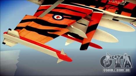 FA-18D Hornet RCAF Tigermeet para GTA San Andreas vista direita