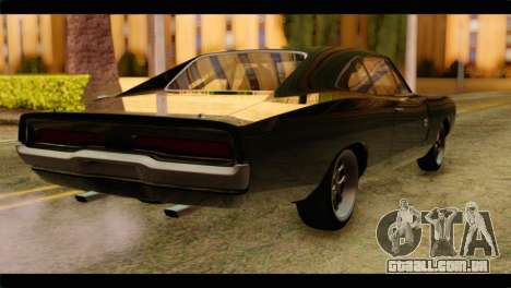 Dodge Charger RT 1970 para GTA San Andreas esquerda vista
