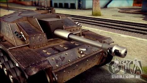 StuG III Ausf. G para GTA San Andreas traseira esquerda vista