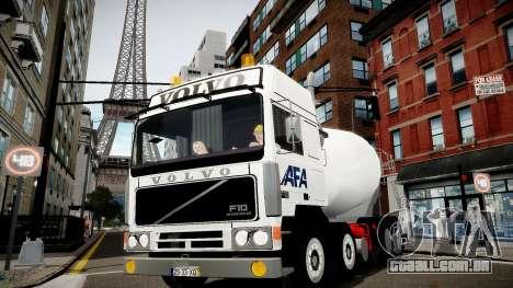 Volvo F10 cement truck para GTA 4 traseira esquerda vista