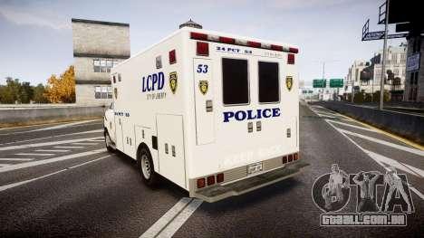 Brute Enforcer para GTA 4 traseira esquerda vista