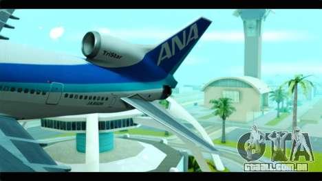 Lookheed L-1011 ANA para GTA San Andreas traseira esquerda vista