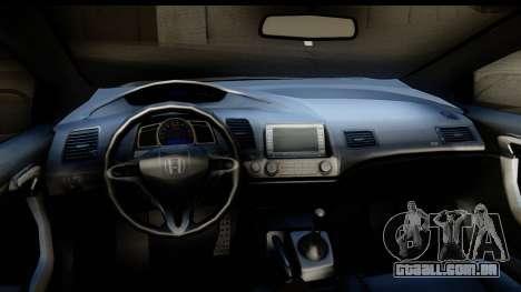 Honda Civic SI Juiced Tuned Shinon Itasha para GTA San Andreas vista interior