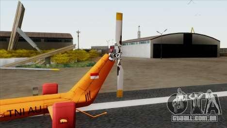 MBB BO-105 Basarnas para GTA San Andreas traseira esquerda vista