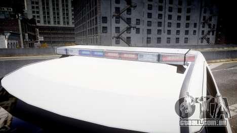Ford Explorer 2011 Elizabeth Police [ELS] v2 para GTA 4 vista de volta