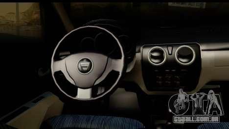 Dacia Lodgy 2014 para GTA San Andreas vista interior