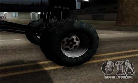 Monster Bobcat para GTA San Andreas traseira esquerda vista