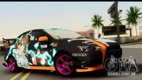 Mitsubishi Lancer Evolution X 2014 Itasha para GTA San Andreas