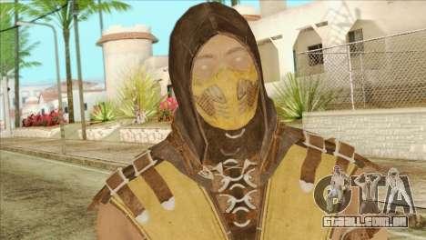 Mortal Kombat X Scoprion Skin para GTA San Andreas terceira tela