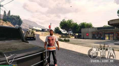 T-shirt para Franklin. - Fizruk para GTA 5