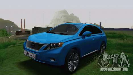 Lexus RX450h v3 para GTA San Andreas