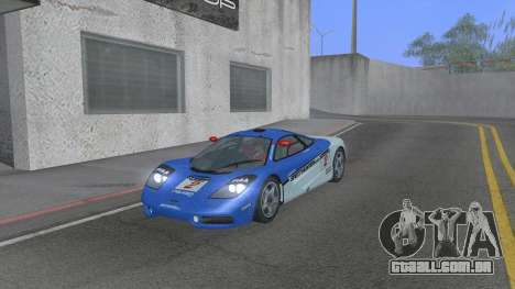 1992 McLaren F1 Clinic Model Custom Tunable v1.0 para GTA San Andreas vista superior