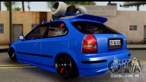 Honda Civic Hatchback para GTA San Andreas esquerda vista