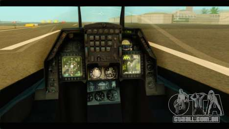 Lockheed Martin F-16C Fighting Falcon Warwolf para GTA San Andreas vista traseira