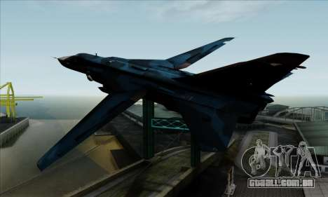 SU-24MP Fencer Blue Sea Camo para GTA San Andreas esquerda vista