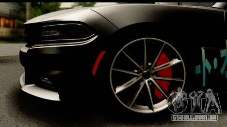 Dodge Charger RT 2015 Sword Art para GTA San Andreas vista traseira