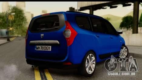 Dacia Lodgy 2014 para GTA San Andreas esquerda vista